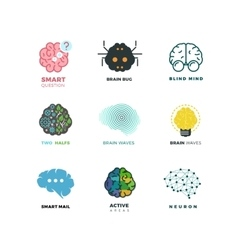 Brain creation invention inspiration idea vector image vector image