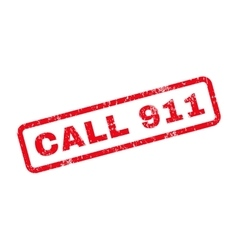 Call 911 text rubber stamp vector