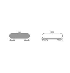 cistern grey set icon vector image vector image