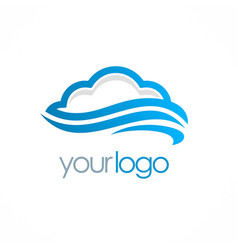 cloud storage logo vector image