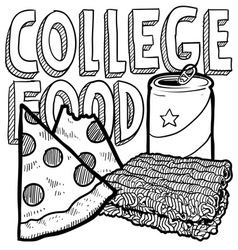 College food vector image vector image