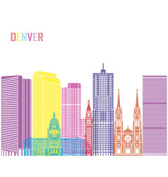 denver v2 skyline pop vector image