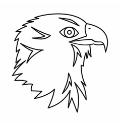 Eagle icon outline style vector