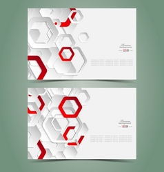 Elegant business card templates vector image vector image