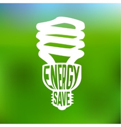 Energy save concept poster with lightbulb vector image vector image