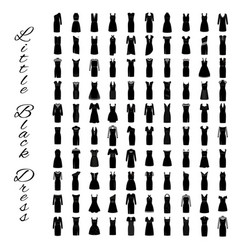Fashion little black dresses big collection of vector