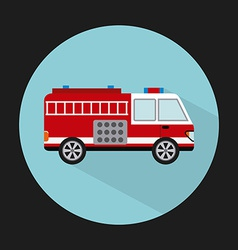 Fire truck design vector