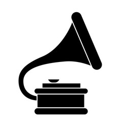 gramophone 2 icon black sign vector image vector image