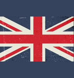 Grunge image of the british flag abstract grungy vector