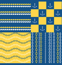 Marine seamless pattern set 1 vector