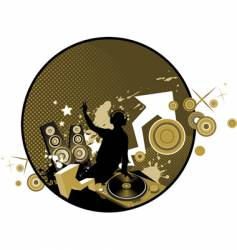 mixing music concept vector image
