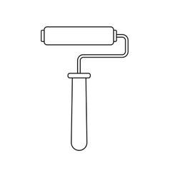 Paint roller handle renovation decoration element vector