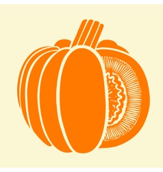 Pumpkin Isolated Drawing vector image vector image