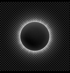 realistic moon eclipse for your design vector image