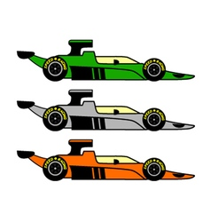 retro racing car vector image vector image