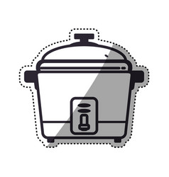 rice cooker household appliance vector image vector image