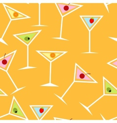 Seamless Background Pattern of Alcoholic Cocktail vector image