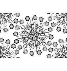 Seamless ornamental oriental flowers vector