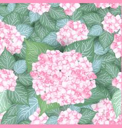 Seamless vintage hydrangea flower pattern vector