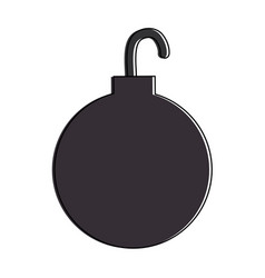 Shackle ball isolated icon vector