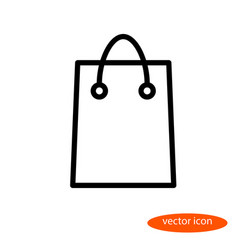 simple linear image of a shopping bag for vector image vector image