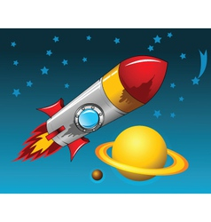 Space Rocket vector image vector image