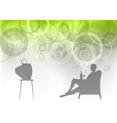 tv watching vector image