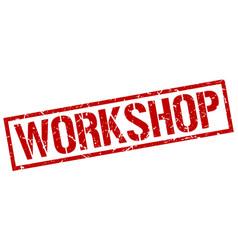 Workshop stamp vector