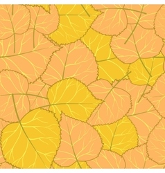 yellow autumn pattern of leaves vector image vector image
