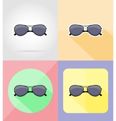 Objects for recreation a beach flat icons 16 vector