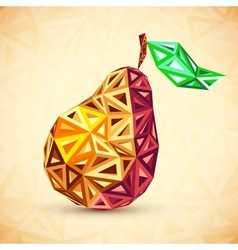 Abstract vintage colors triangles pear vector image