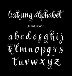 Bakung alphabet lowercase character typography vector