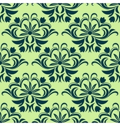 Retro light green floral seamless pattern vector