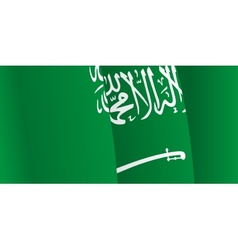 Background with waving saudi arabia flag vector