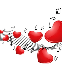 Melody of love vector