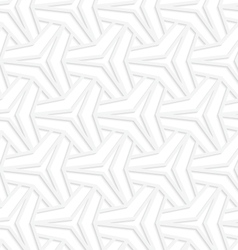 3d white three ray stars with offset grid vector