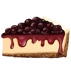 Cheesecake on white background vector