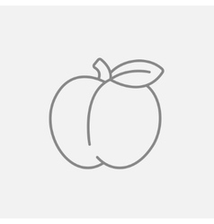 Apple line icon vector