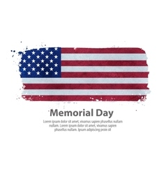 Memorial day flag united states vector