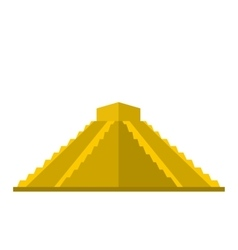 Mayan pyramid in yucatan mexico icon flat style vector