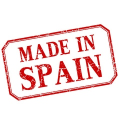 Spain - made in red vintage isolated label vector