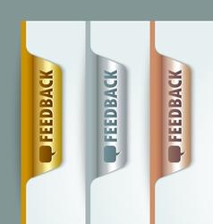 Metallic bookmarks vector