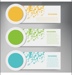 abstract circles template banner design vector image