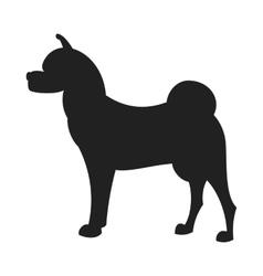 Akita black silhouette vector