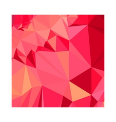 American rose red abstract low polygon background vector