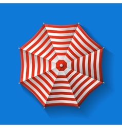 Beach umbrella top vector image