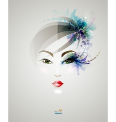 Beautiful woman design vector image vector image