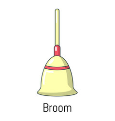 broom icon cartoon style vector image vector image