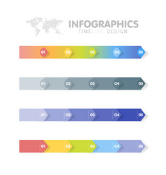 Business infographics template set timeline with vector