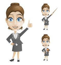 businesswoman in a gray suit vector image